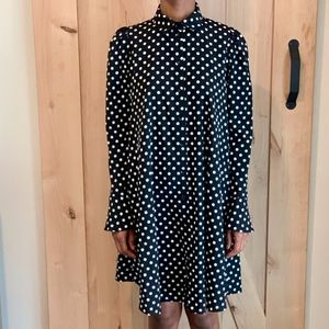 ASOS Long Sleeve Polka Dot Dress